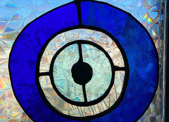 Stained Glass Evil Eye with Tourmaline Pupil