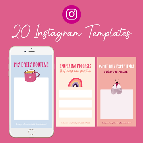 20 Instagram Story Templates To Fill in - Quarantine Edition