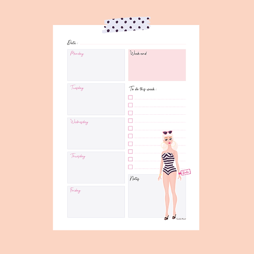 """Hey Barbie!"" - Weekly Planner"