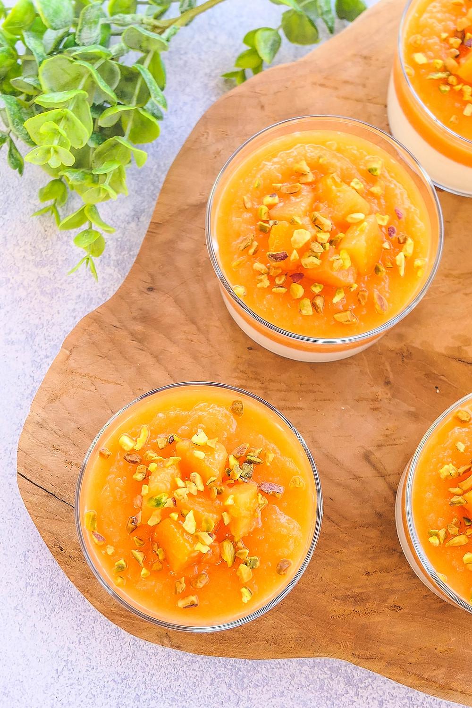 panna cotta melon éclats de pistache allégée remede constipation