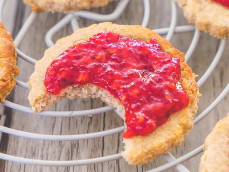 Biscuits à la Farine de Châtaigne et Nappage Framboise