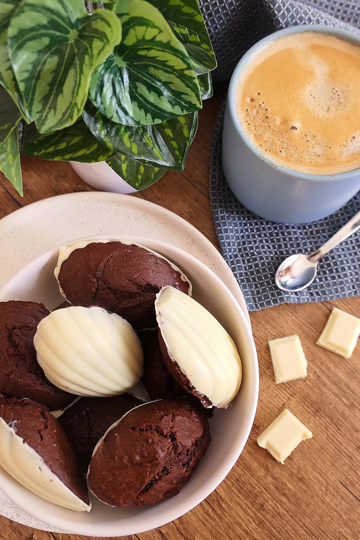 madeleines chocolat coque chocolat blanc
