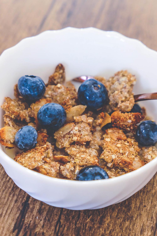 granola sans sucres noix de coco et vanille recette psyllium blond