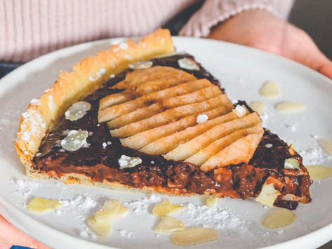 Tarte Poire Chocolat Healthy – Vegan & Sans Gluten