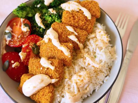 Tofu Pané au Psyllium Sans Gluten