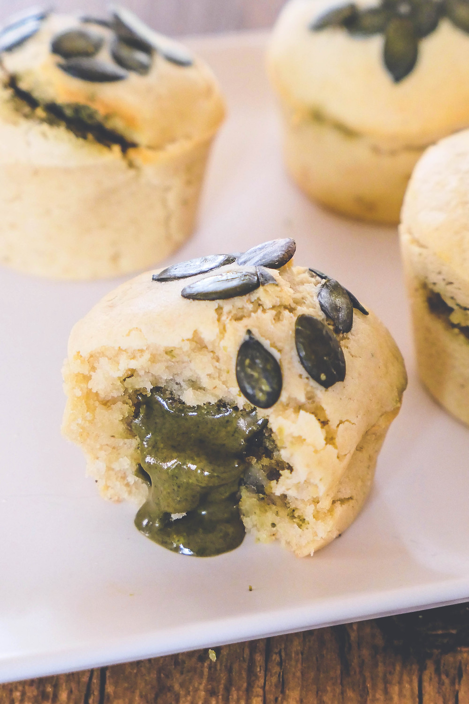 muffins cœur coulant aux graines de courge