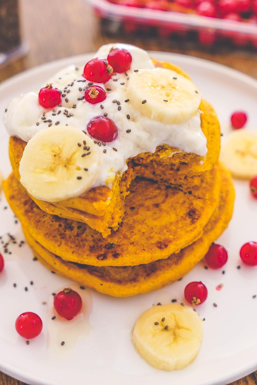 pancakes dorés au curcuma sans gluten recette psyllium