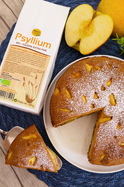 gâteau moelleux aux pommes psyllium