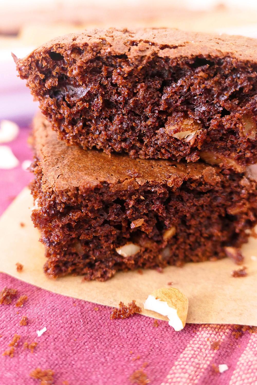 brownie aux noix sans farine psyllium
