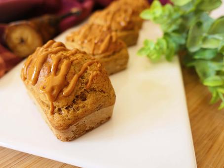 Minis Cakes façon Banana Bread au Beurre de Cacahuète et Psyllium