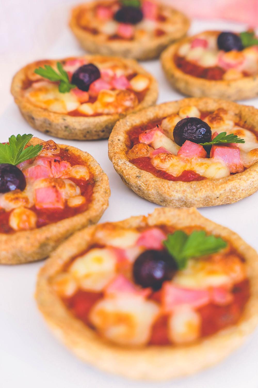 mini pizzas apéritives apero recette psyllium