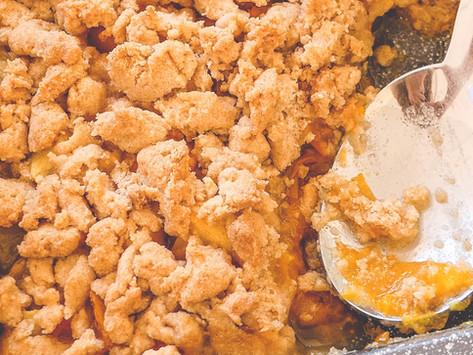 Crumble Pommes et Abricots – Sans Gluten
