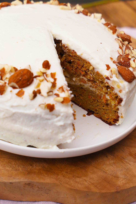 carrot cake healthy sans gluten recette psyllium