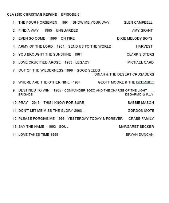 CLASSIC CHRISTIAN REWIND - EPISODE 10 - EPISODE 6.JPG