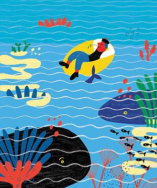 El mar - Laufer Ilustración