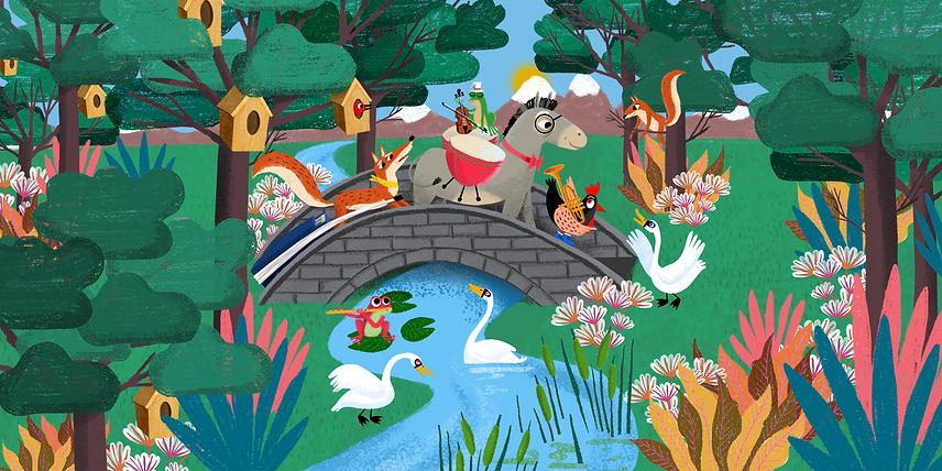 Ciudad Melodía - Laufer Ilustración