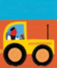 Tractor amarillo - Laufer Ilustración