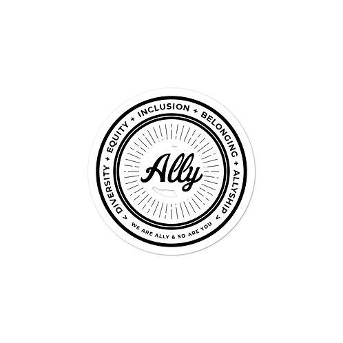Black & White Values Sticker