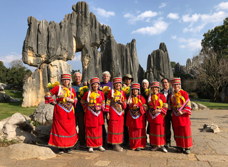 2018 Yunnan photo tour group at Stone Forest