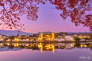 An Fall evening at Hongcun village