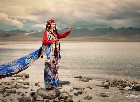 Environmental portrait of a Tibetan bride