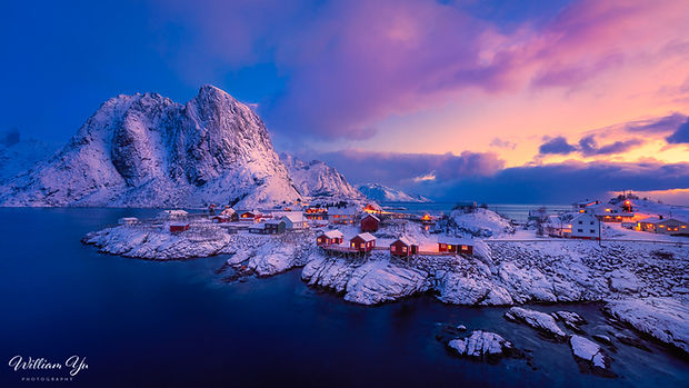 Dawn at Hamnøya, Norway