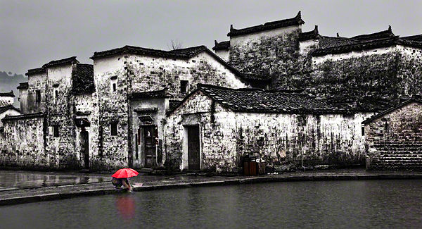 A rainy day in Hongcun