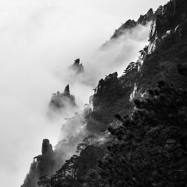 Mt.Huangshan with fogs