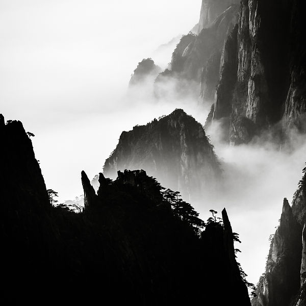 Mt.Huangshan in layers