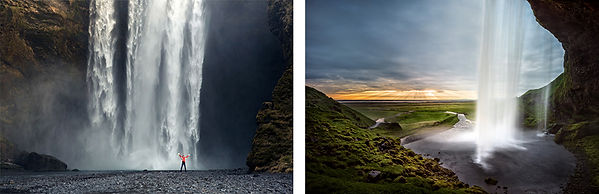 Waterfalls or southern Iceland