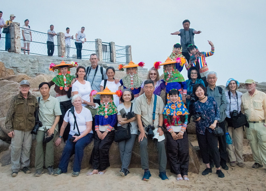 Group image with Hui'an Maidens, Fujian province, China.