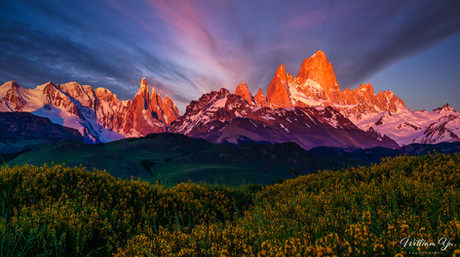 Patagonia Dawn at Mt. Fitzory