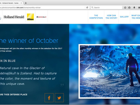 Congratulations! Kim Morla, Photo Winner of the Holland Herald contest of KLM