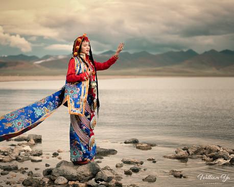 A Tibetan Bride at Namtso