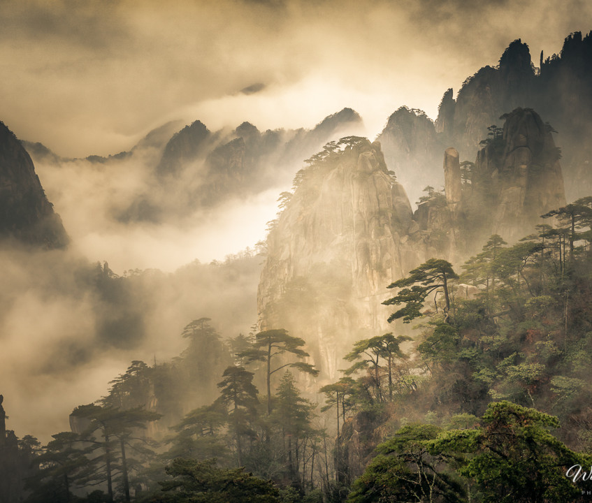 Mt. Huangshan (Yellow Mountain) Anhui province, China.