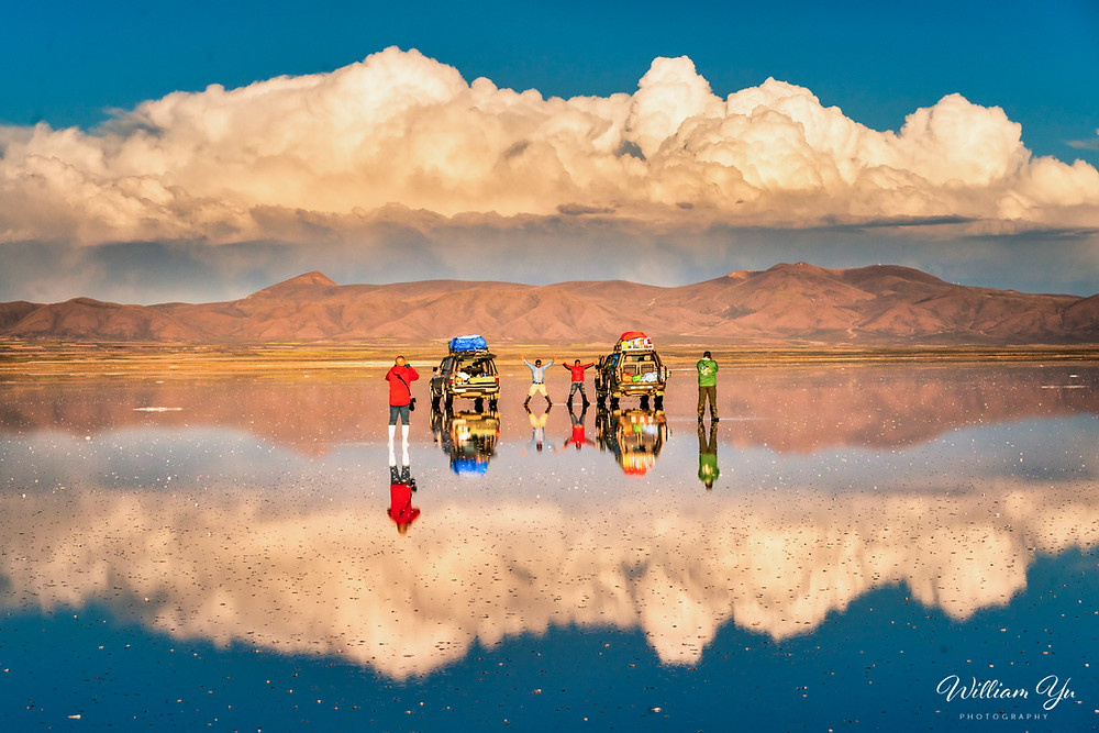 Reflection on Uyuni, Bolivia