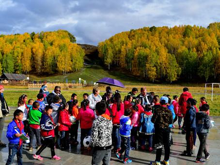 A Visit to primary school at Hemu village, Xinjiang, China