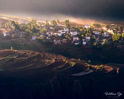 A mountain village