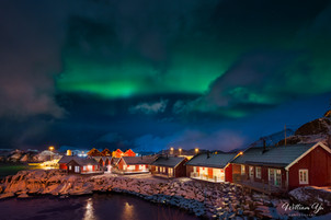 Aurora over our cabins