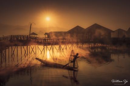 Morning at Inle Lake, Myanmar