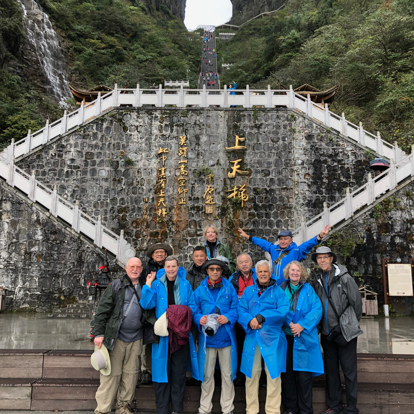 Guilin-Zhangjiajie photo tour group at Heaven's Gate(Tianmen) Mountain, Zhangjiajie, Hunan province, China