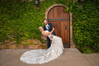 Imagine yourself with your Husband dipping in front of our stunning green vines at Bella Vita Ranch!