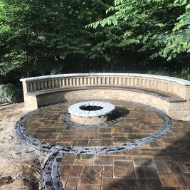 Fire pits and seat walls