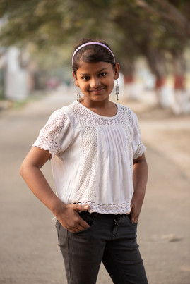 I am Anjali and I am 11 years old. I am in 1st standard and dream of becoming a teacher.