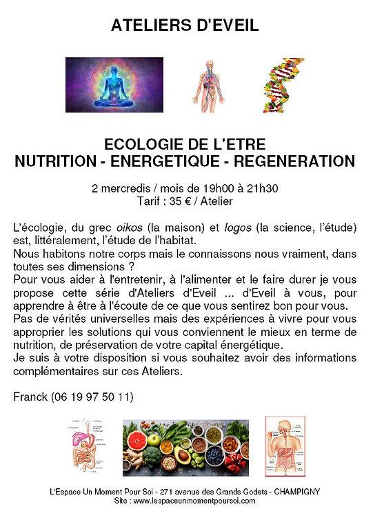 """Ateliers d'Eveil """"Ecologie de l'Être"""""""