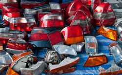parts of tail light in market second hand