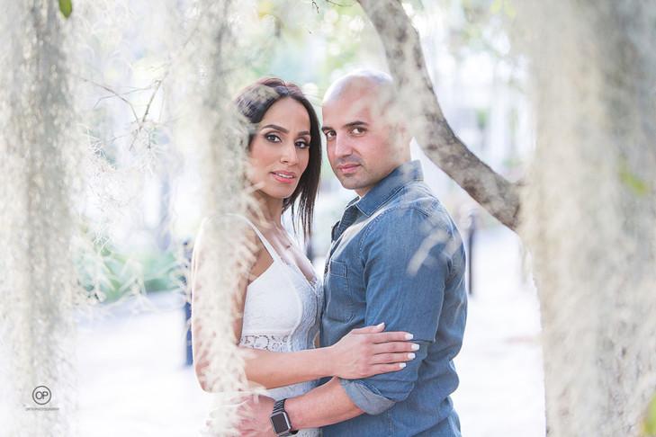 Riverside Walk Ft Lauderdale Engagement:  Llinette + Eric