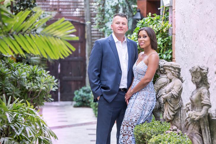 Worth Ave Palm Beach Engagement:  Michelle & Josh