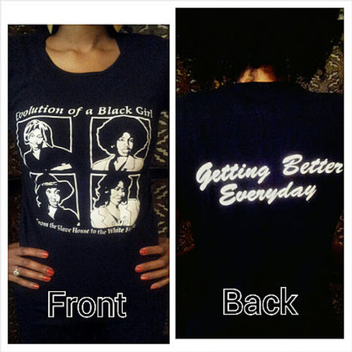 Evolution of a Black Girl T-shirt Form Fitted