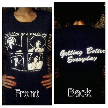 Evolution of a Black Girl T-shirt